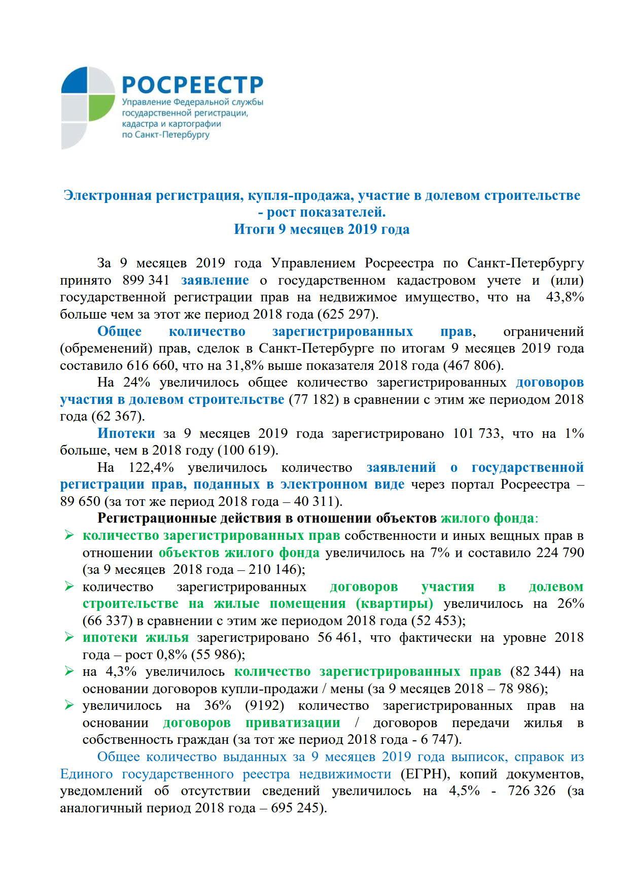 Электронная регистрация, купля-продажа, участие в долевом строительстве - рост показателей_1